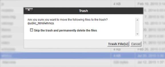 cpanel-file-trash